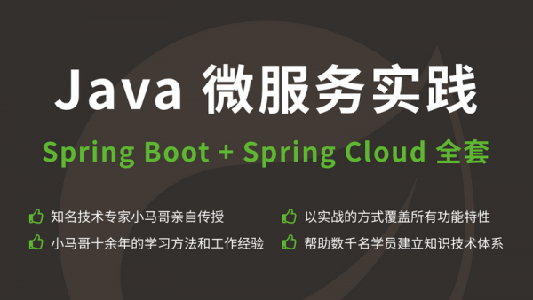 Java 微服务实践Spring Boot+Spring Cloud 全套