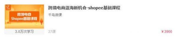 跨境电商蓝海新机会-shopee基础课程